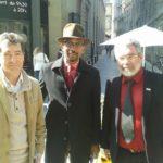Avec Karfa Diallo et Patrick Serres, membre de la Fondation pour un mémorial de la Traite et candidat sur la liste Bordeaux pour tous.