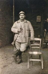 Emile MAURIN, facteur en Lozère, blessé à Verdun.