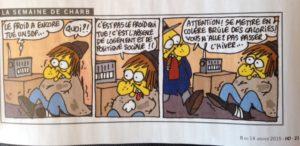 Dernier dessin de Charb pour l'Humanité-Hebdo paru jeudi...