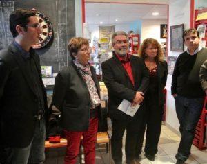 Olivier Dartigolles, Brigitte Lopez d'Ensemble, Christine Boronat du Parti de gauche, Sébastien Laborde, directeur de campagne.